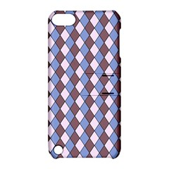 Allover Graphic Blue Brown Apple iPod Touch 5 Hardshell Case with Stand