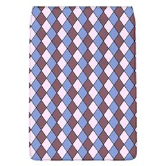 Allover Graphic Blue Brown Removable Flap Cover (Large)