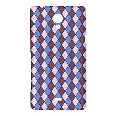 Allover Graphic Blue Brown Sony Xperia T Hardshell Case