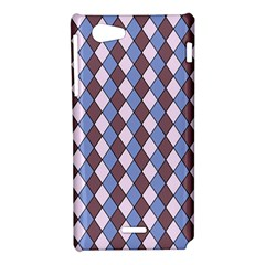 Allover Graphic Blue Brown Sony Xperia J Hardshell Case