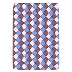 Allover Graphic Blue Brown Removable Flap Cover (small)