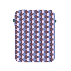 Allover Graphic Blue Brown Apple iPad Protective Sleeve