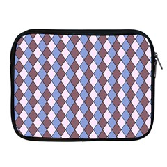 Allover Graphic Blue Brown Apple iPad Zippered Sleeve
