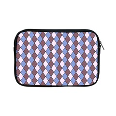 Allover Graphic Blue Brown Apple Ipad Mini Zippered Sleeve