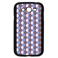Allover Graphic Blue Brown Samsung Galaxy Grand Duos I9082 Case (black)