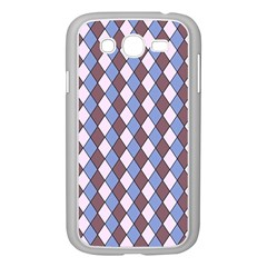 Allover Graphic Blue Brown Samsung Galaxy Grand DUOS I9082 Case (White)