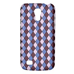 Allover Graphic Blue Brown Samsung Galaxy S4 Mini (gt I9190) Hardshell Case