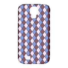 Allover Graphic Blue Brown Samsung Galaxy S4 Classic Hardshell Case (PC+Silicone)