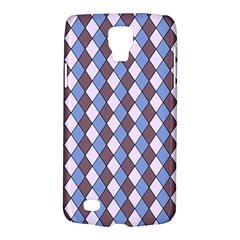 Allover Graphic Blue Brown Samsung Galaxy S4 Active (I9295) Hardshell Case
