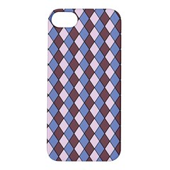 Allover Graphic Blue Brown Apple iPhone 5S Hardshell Case