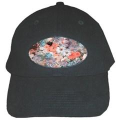 Spring Flowers Black Baseball Cap