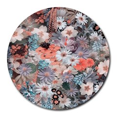 Spring Flowers 8  Mouse Pad (round)