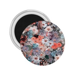 Spring Flowers 2.25  Button Magnet