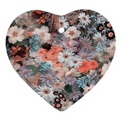 Spring Flowers Heart Ornament