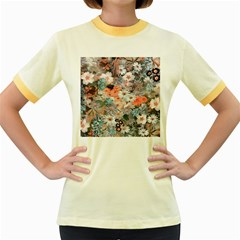 Spring Flowers Womens  Ringer T-shirt (Colored)