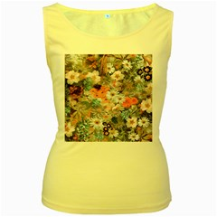 Spring Flowers Womens  Tank Top (Yellow)