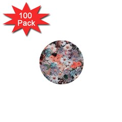 Spring Flowers 1  Mini Button (100 pack)