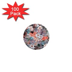 Spring Flowers 1  Mini Button Magnet (100 pack)