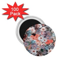 Spring Flowers 1.75  Button Magnet (100 pack)
