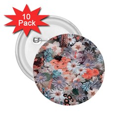 Spring Flowers 2 25  Button (10 Pack)