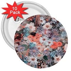 Spring Flowers 3  Button (10 pack)