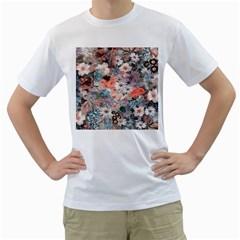 Spring Flowers Mens  T-shirt (White)