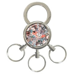 Spring Flowers 3-Ring Key Chain