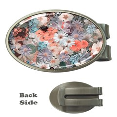Spring Flowers Money Clip (Oval)