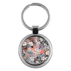 Spring Flowers Key Chain (Round)