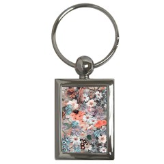 Spring Flowers Key Chain (Rectangle)