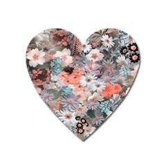 Spring Flowers Magnet (Heart)