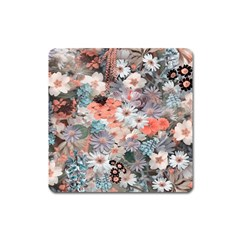 Spring Flowers Magnet (Square)