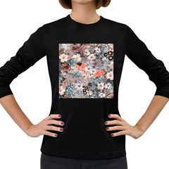 Spring Flowers Womens' Long Sleeve T-shirt (Dark Colored)