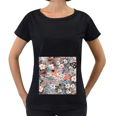 Spring Flowers Womens' Maternity T-shirt (Black)