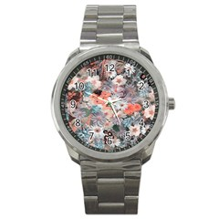 Spring Flowers Sport Metal Watch