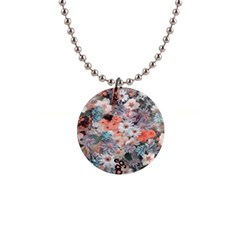 Spring Flowers Button Necklace