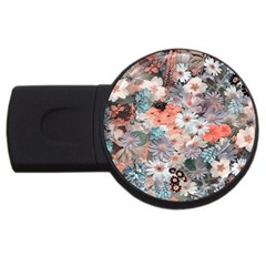 Spring Flowers 4GB USB Flash Drive (Round)