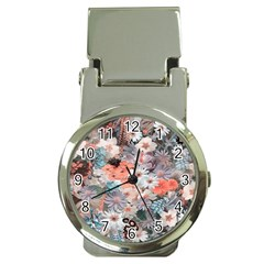 Spring Flowers Money Clip With Watch