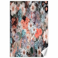 Spring Flowers Canvas 12  x 18  (Unframed)