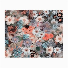 Spring Flowers Glasses Cloth (Small, Two Sided)