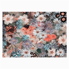 Spring Flowers Glasses Cloth (Large, Two Sided)