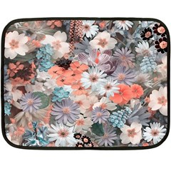 Spring Flowers Mini Fleece Blanket (two Sided)