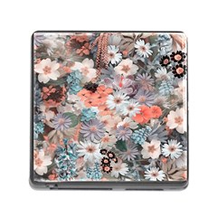 Spring Flowers Memory Card Reader with Storage (Square)