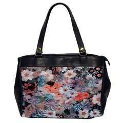 Spring Flowers Oversize Office Handbag (One Side)