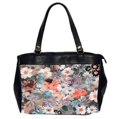 Spring Flowers Oversize Office Handbag (Two Sides)