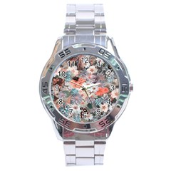 Spring Flowers Stainless Steel Watch