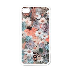 Spring Flowers Apple iPhone 4 Case (White)