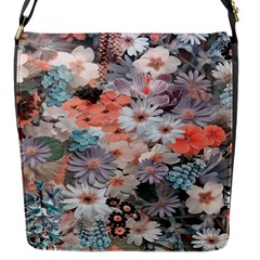 Spring Flowers Flap Closure Messenger Bag (small)