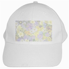 Spring Flowers Soft White Baseball Cap