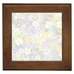Spring Flowers Soft Framed Ceramic Tile